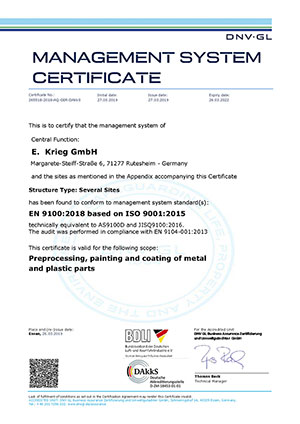 Certificat EN 9100