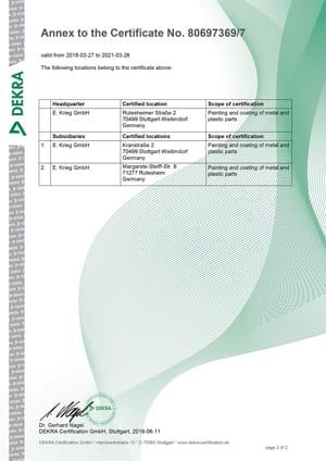 Certificat ISO9001:2015, Rutesheimerstraße & Kranstraße, Neckarstraße