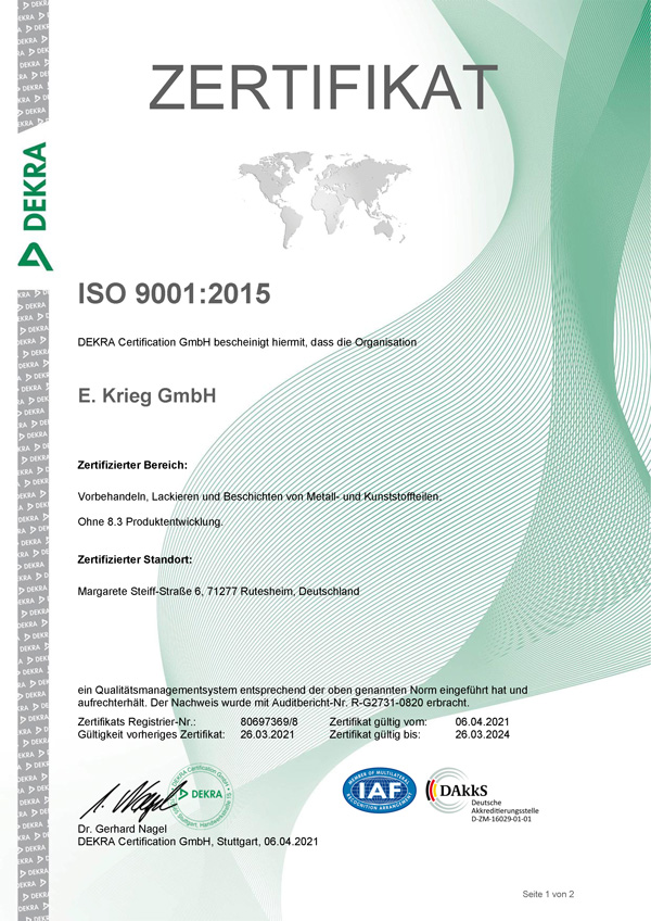 Certificate ISO9001:2015